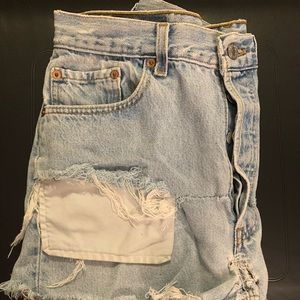 Light blue Levi shorts